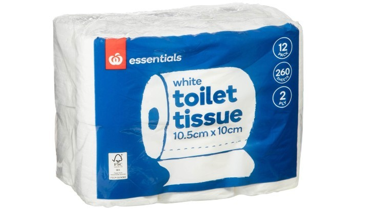 Woolworths Essentials White Toilet Tissue 2 Ply