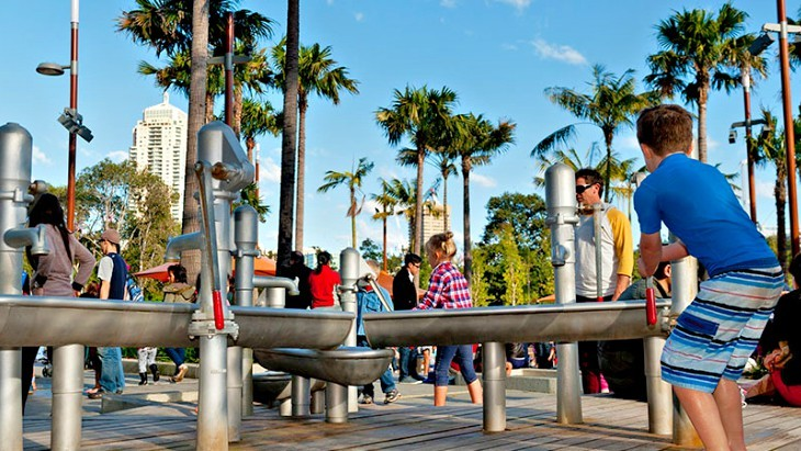 The Playground at Darling Quarter is one of the top FREE Water Parks for Kids in Sydney