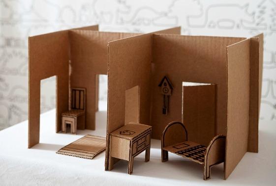Make Your Own Cardboard Dollhouse Ellaslist