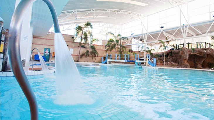 with a nice sized indoor leisure pool with a slide and an onsite cafe and creche its an easy place to spend a few damp hours