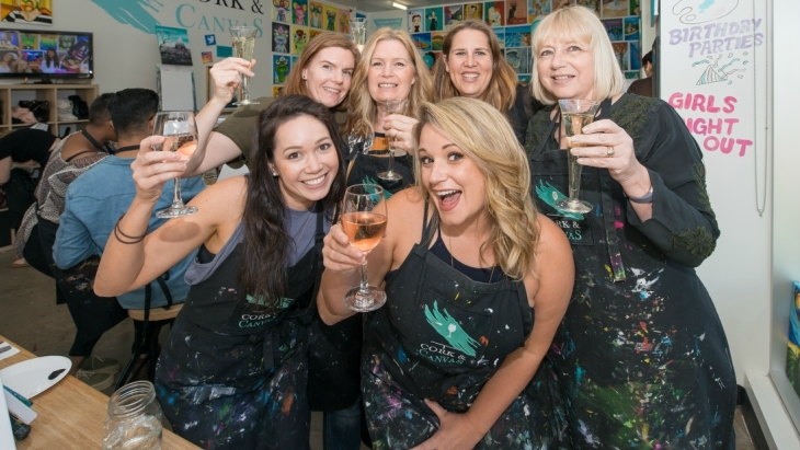 Cork and Canvas mums night out