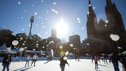 Sydney winter festival st marys cathedral ice skating