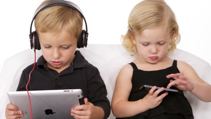 Kids using technology