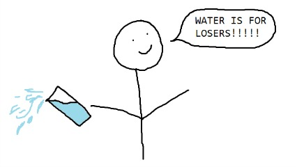 Water for losers
