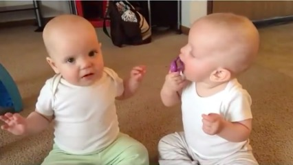 Babies fighting