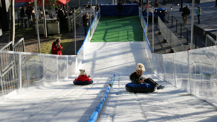 Melbourne ice slide 2017