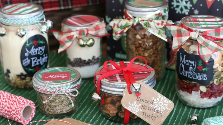 Christmas gift in a jar