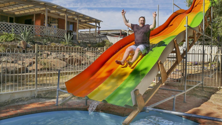 Backyard waterslide perth hero