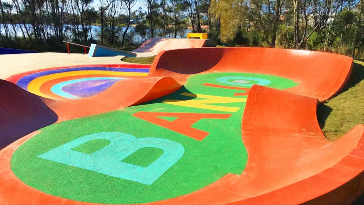 Banjos skate park at terrigal