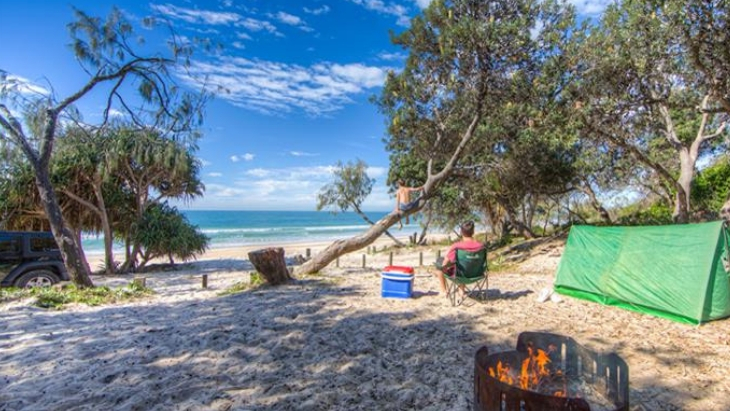 Almost free camping new brisbane bribie