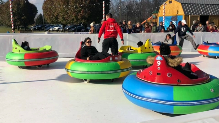 Ice rink bumper cars