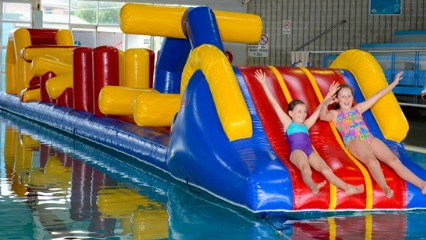 Des renford leisure centure school holiday giant inflatable eastern suburbs swimming pools sydney kids learn to swim aquatic centre randwick easter