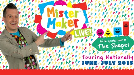 Mister maker live chatswood concourse the shapes kids shows sydney kids north shore northern beaches