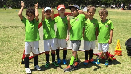 Kickeroos soccer camp happy boys school holidays