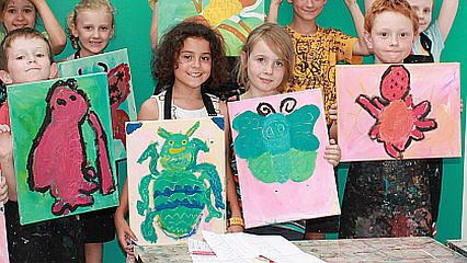 Painting bugs butterflies and insects