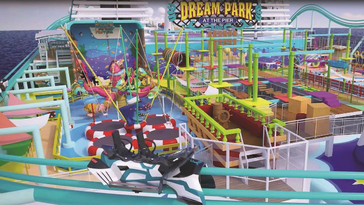 Roller coaster cruise themepark 2021