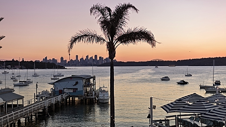 Watsons bay boutique hotel sunset