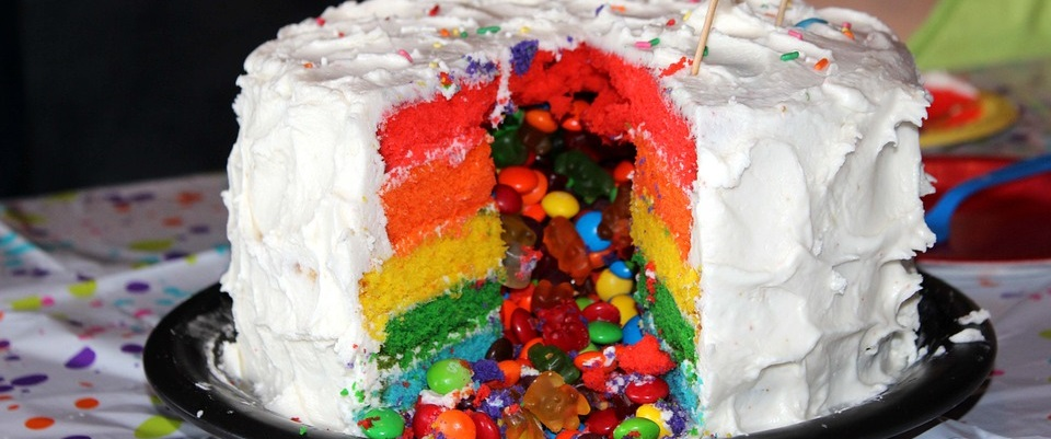 kids getting too much birthday cake