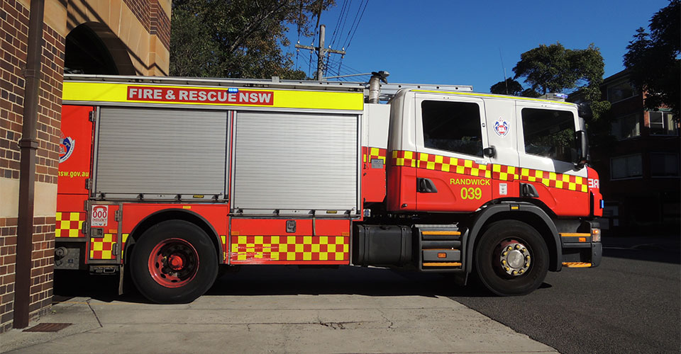 NSW Fire Station Open Day 2016 - Fire Engine Comes Out