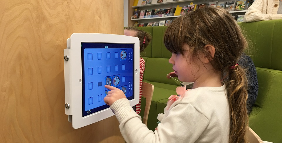 iPad area for kids at the Double Bay Library