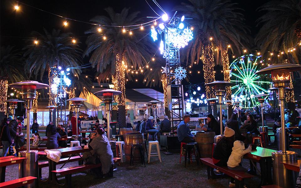 Parramatta Winterlight Festival reviewed - food village 960x600
