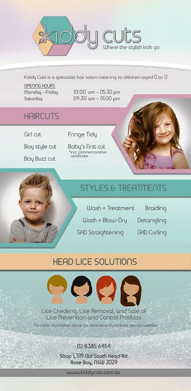 kids hairdresser eastern suburbs kiddy's cuts rose bay price list