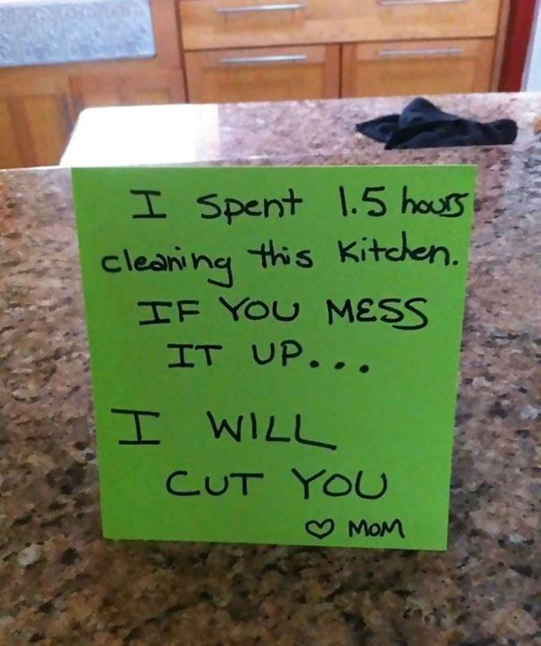 cut you note