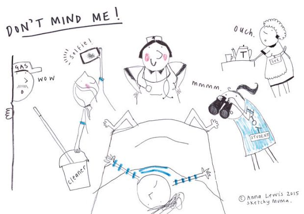 Woman illustrates what it's like to be a mother Anna Lewis Sketchy Muma