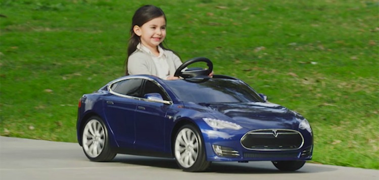 little girl sports car