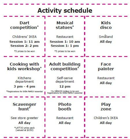 IKEA schedule