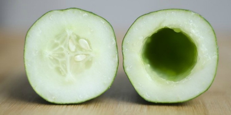 hollowed cucumber