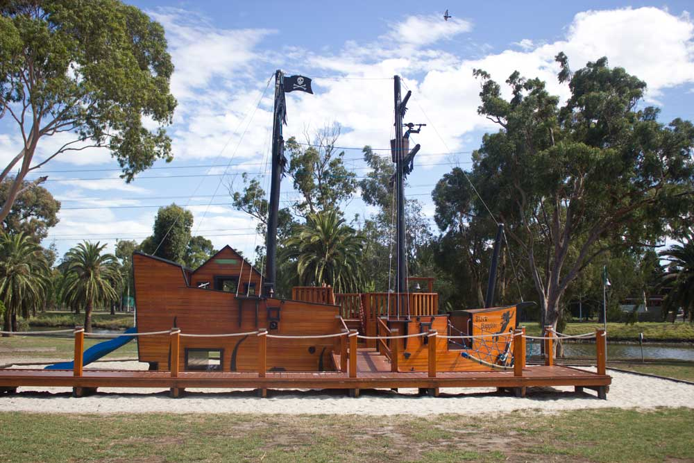 Melbourne's best playgrounds for babies and toddlers | Pirate Ship Park, Aberfeldie