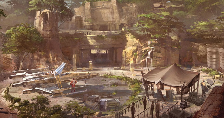 Star Wars-themed lands will be coming to Disneyland park in Anaheim, Calif., and Disney's Hollywood Studios in Orlando, Fla., transporting guests to a never-before-seen planet, a remote trading port and one of the last stops before wild space where Star Wars characters and their stories come to life. Inside these authentic lands, guests will be able to step aboard The Millennium Falcon and actually pilot the fastest ship in the galaxy, steering the vessel through space, firing the laser cannons, in complete control of the experience. And with the arrival of the First Order to the planet, guests will find themselves in the middle of a tense battle between stormtroopers and Resistance fighters. (Disney Parks)